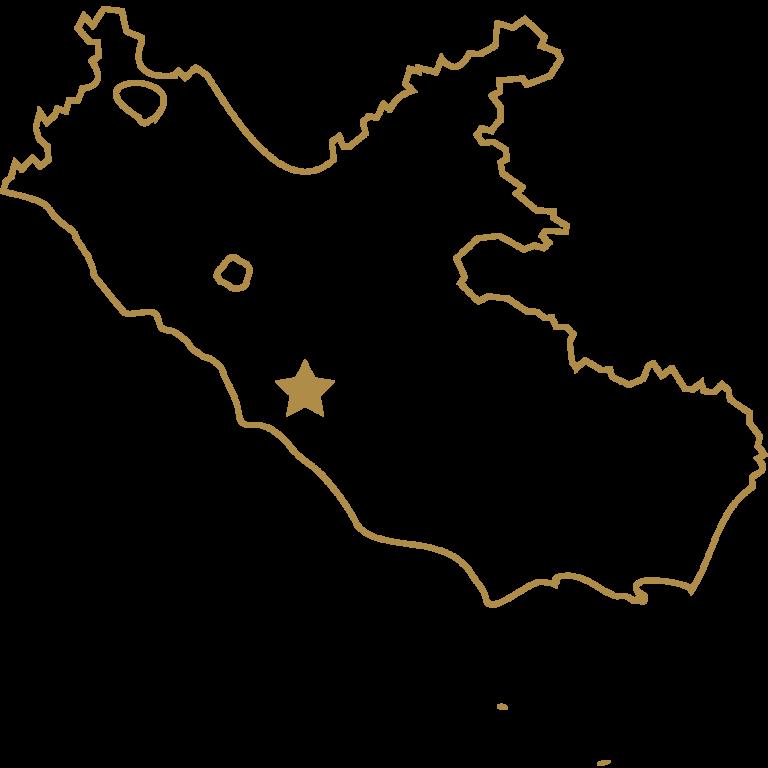 Karte von Lazio Italien
